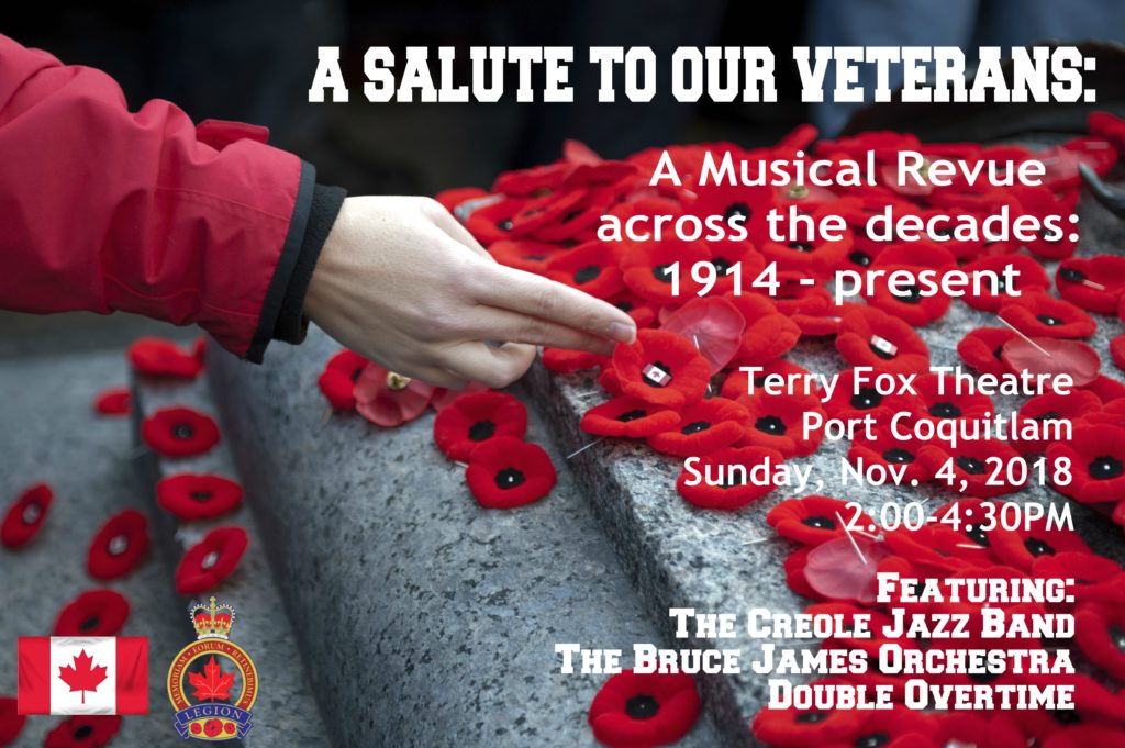 A Salute to Our Veterans: A Musical Revue @ Terry Fox Theatre | Port Coquitlam | British Columbia | Canada
